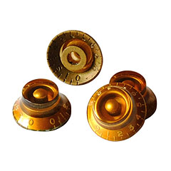 GuitarSlinger Gold Bell Knob Set « Bouton potentiomètre