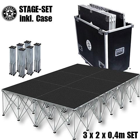 Plataforma de escenario Intellistage SET 3 x 2 x 0,4 m Tuffcoat