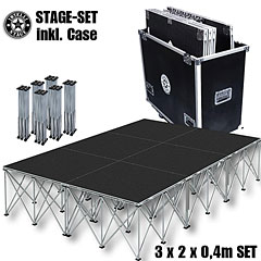 Intellistage SET 3 x 2  0,4 m Tuffcoat « Stage Platform