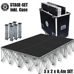 Intellistage SET 3 x 2 x 0,4 m Tuffcoat « Plataforma de escenario