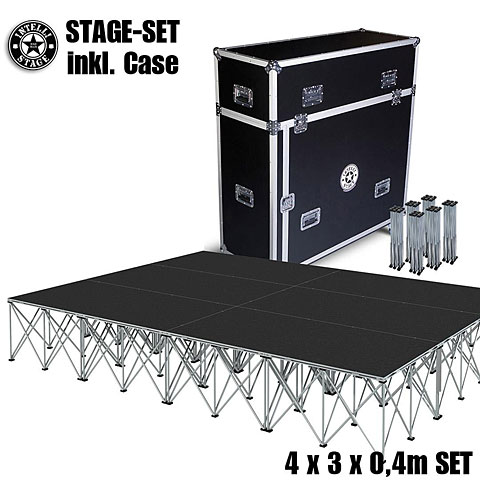 Plataforma de escenario Intellistage SET 4 x 3 x 0,4 m Tuffcoat