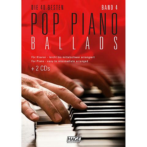 Libro de partituras Hage Pop Piano Ballads 4