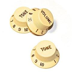 GuitarSlinger Strat 1xVol/2xTone, Ivory « Bouton potentiomètre