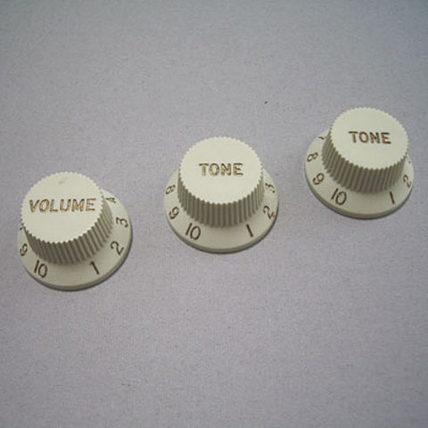 Botón potenciómetro GuitarSlinger Strat 1xVol/2xTone, Mint