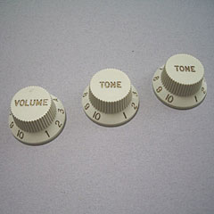 GuitarSlinger Strat 1xVol/2xTone, Mint « Bouton potentiomètre