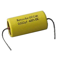GuitarSlinger Retrovibe 0.022µfd Oil Capacitor « Condensateur