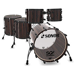 Sonor SQ2 22/10/12/14/16 Ebony « Batterie acoustique