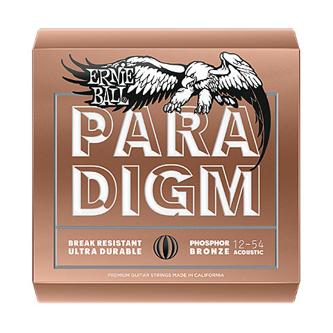 Corde guitare folk Ernie Ball Paradigm Medium Light Phosphor Bronze 2076 3-Pack