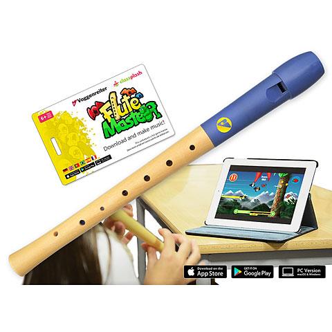 Flauta dulce soprano Voggenreiter Flute Master (App) mit Blockflöte aus Holz-Kunststoff