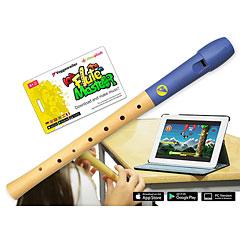 Voggenreiter Flute Master (App) mit Blockflöte aus Holz-Kunststoff « Sopran-Blockflöte