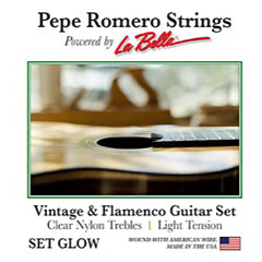La Bella Pepe Romero Set GLOW « Klassieke Gitaar Snaren