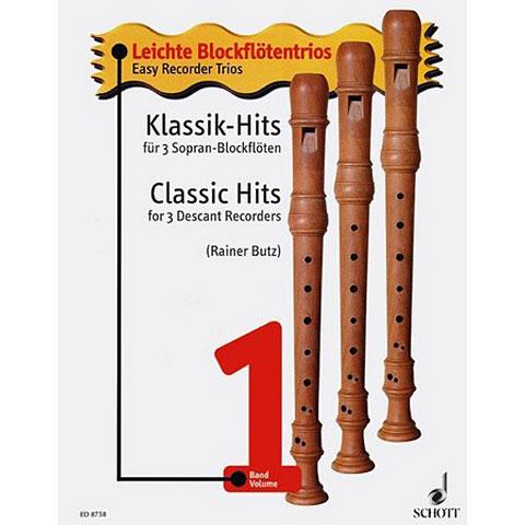 Music Notes Schott Klassik-Hits für 3 Sopran-Blockflöten