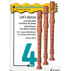 Schott Let's dance für 3 Sopran-Blockflöten « Music Notes