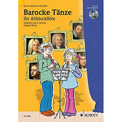 Schott Barocke Tänze für 2 Alt-Blockflöten « Bladmuziek