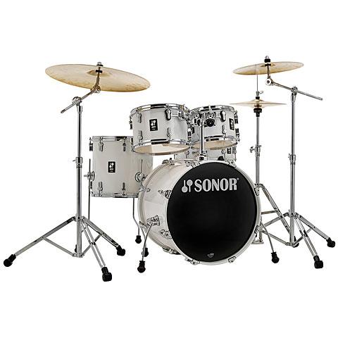 """Sonor AQ1 20"""" Piano White Studio Drumset"""