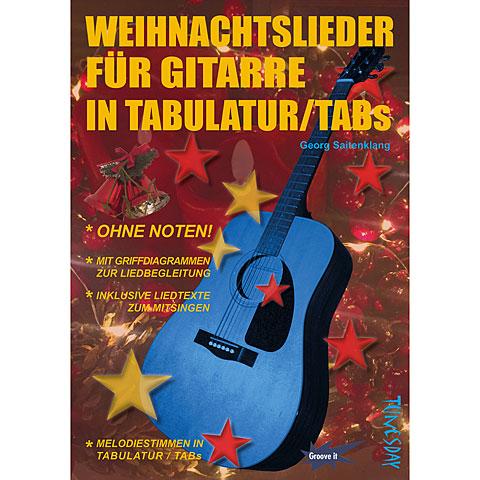 Tunesday Weihnachtslieder für Gitarre in Tabulatur/TABs