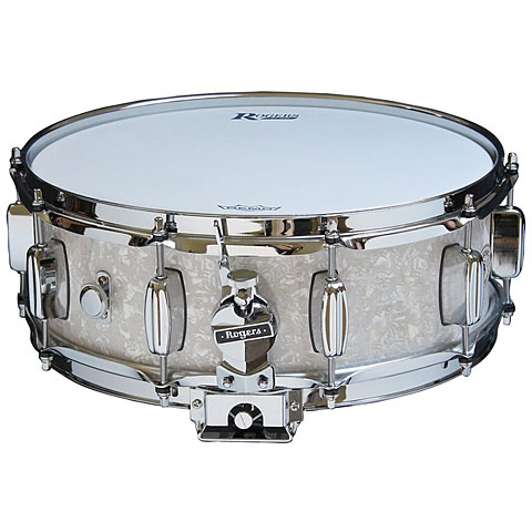 "Rogers Dyna-Sonic 14"" x 5"" Model 32 Snare Drum White Marine Pearl"