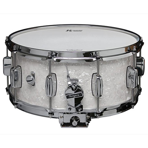"Rogers Dyna-Sonic 14"" x 6,5"" Model 33 Snare Drum White Marine Pearl"