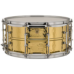 "Ludwig Brass Phonic 14"" x 6,5"" Hammered Brass Snare Drum With Tube Lugs « Caisse claire"