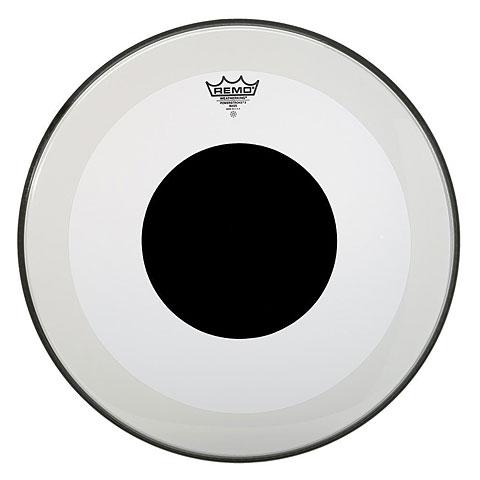 "Bass-Drum-Fell Remo Powerstroke 3 Clear 22"" Black Dot"
