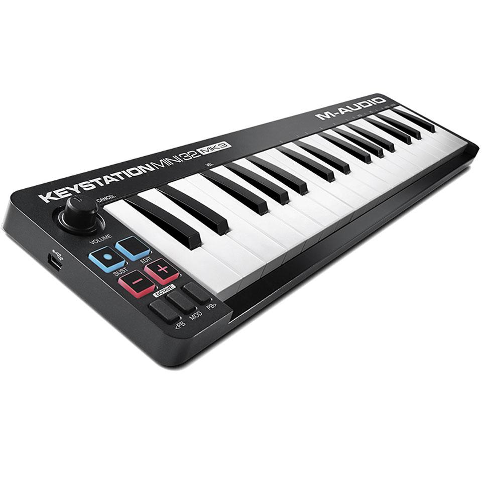 Midimasterkeyboards - M Audio Keystation Mini 32 MkIII Masterkeyboard - Onlineshop Musik Produktiv