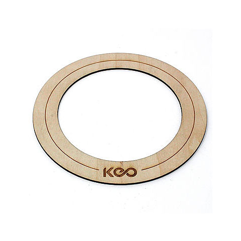 Accesor. parches KEO Percussion Bass Wood O-Ring Medium