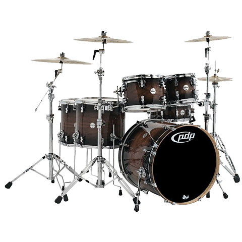 Schlagzeug pdp Concept Exotic CM6 Charcoal Burst over Walnut Shellpack