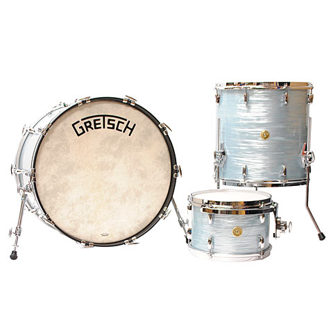 """Batería Gretsch Drums USA Broadkaster 22"""" Vintage Oyster White"""