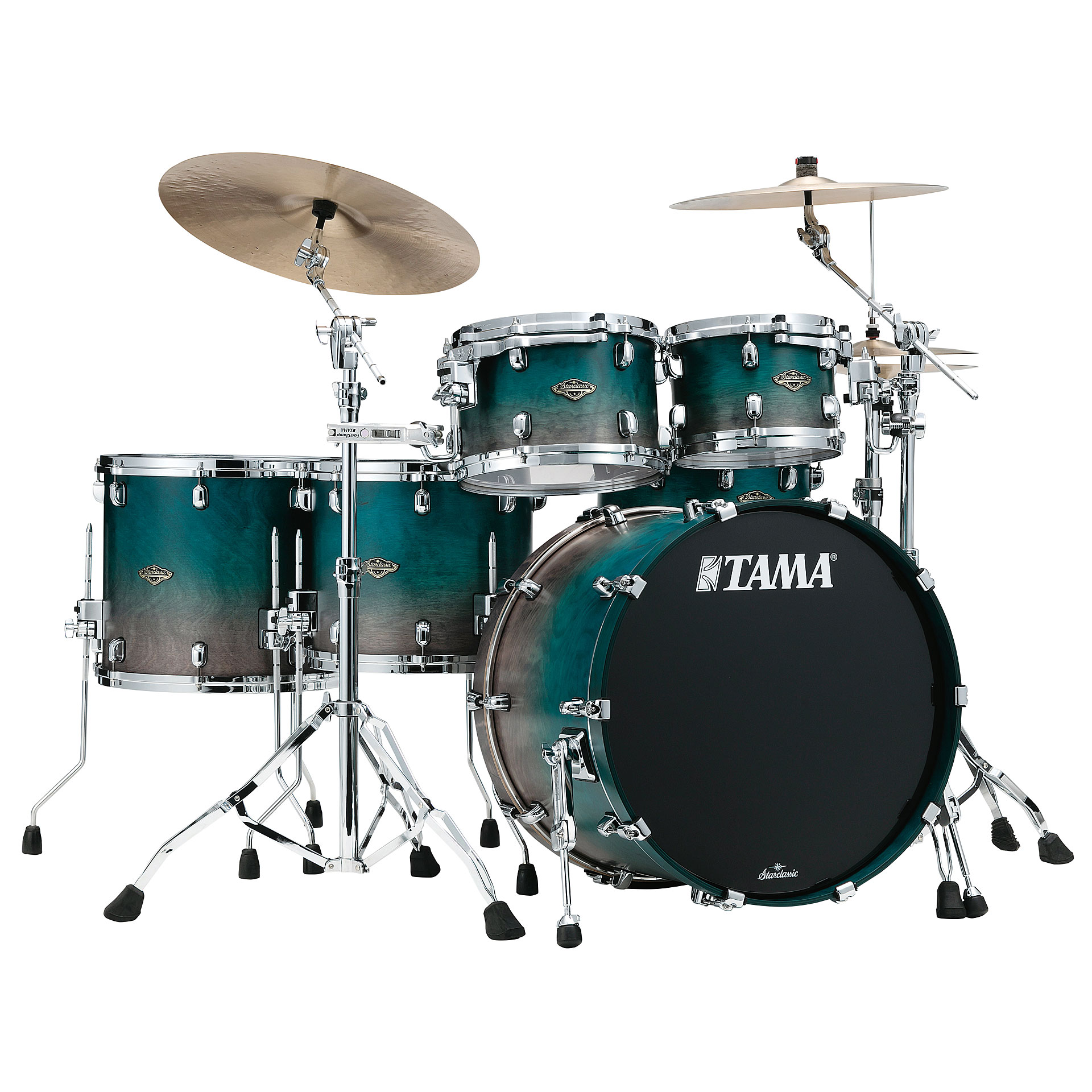 tama starclassic walnut birch 5pc satin sapphire fade drum kit. Black Bedroom Furniture Sets. Home Design Ideas