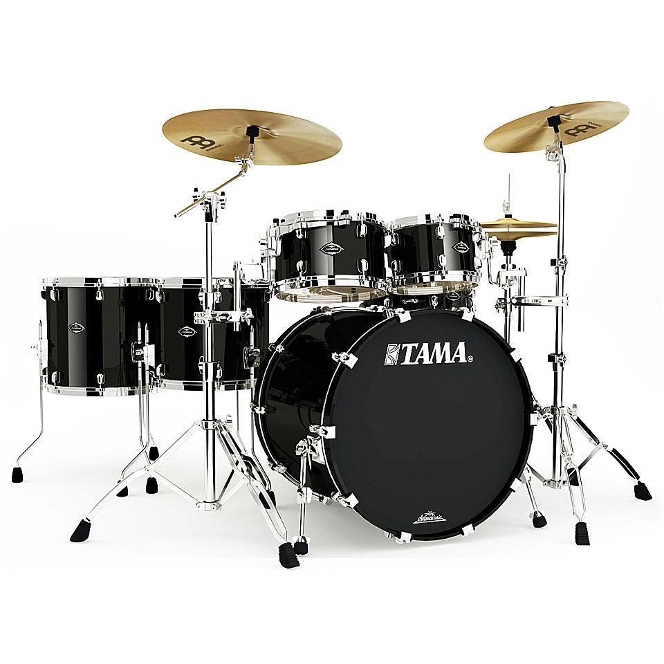 Akustikdrums - Tama Starclassic Walnut Birch 5pc Piano Black Schlagzeug - Onlineshop Musik Produktiv