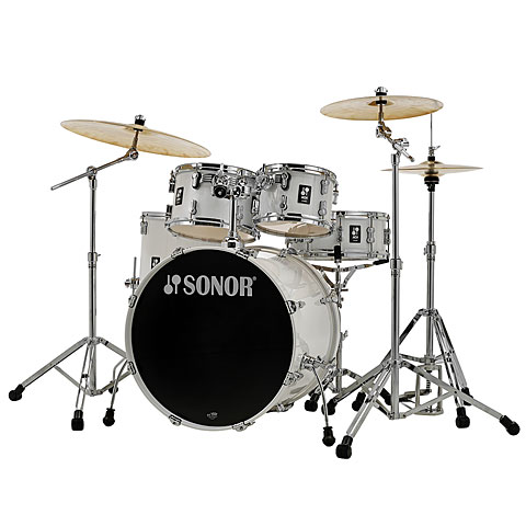 "Sonor AQ1 22"" Piano White Stage Drumset"