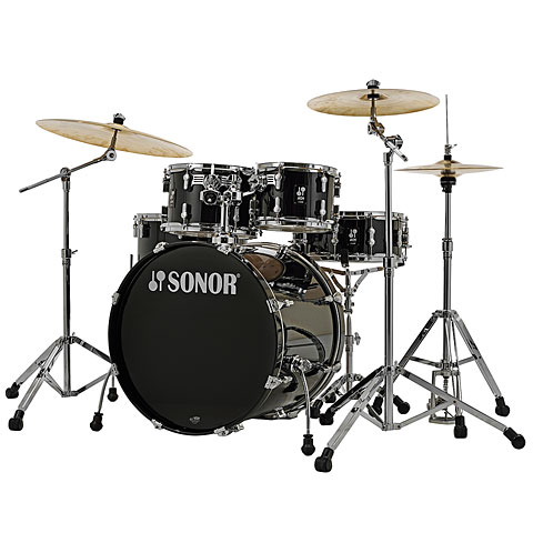 """Sonor AQ1 22"""" Piano Black Stage Drumset"""