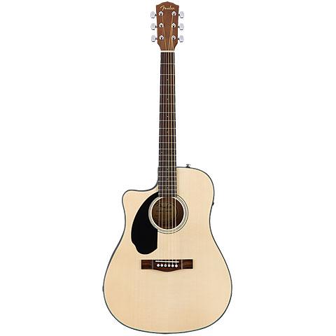 Guitare acoustique gaucher Fender CD-60SCE LH NAT WN