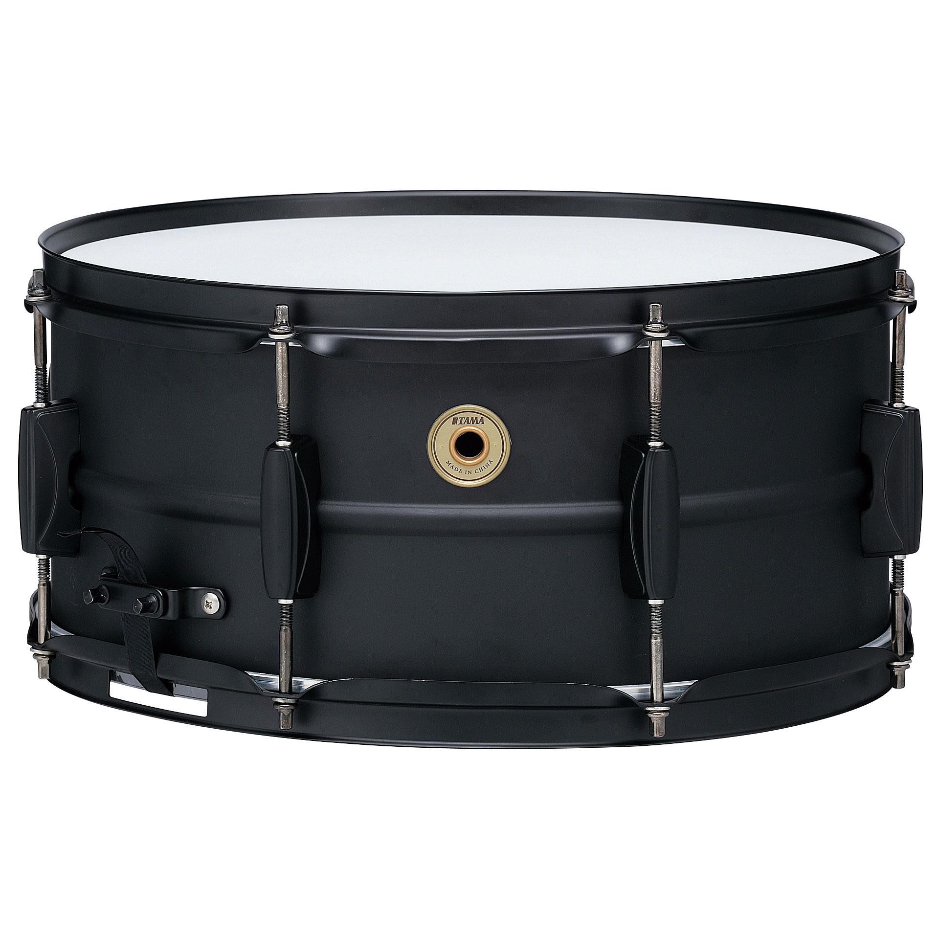 tama metalworks 14 x 6 5 black steel snare snare drum. Black Bedroom Furniture Sets. Home Design Ideas