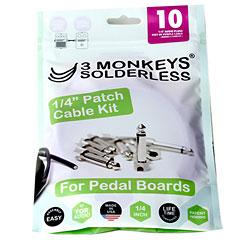 "3 Monkeys Solderless 1/4"" Patch Cable Kit « Patchkabel"