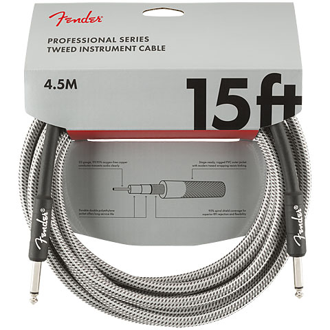 Cable instrumentos Fender Pro Series White Tweed 4,5 m