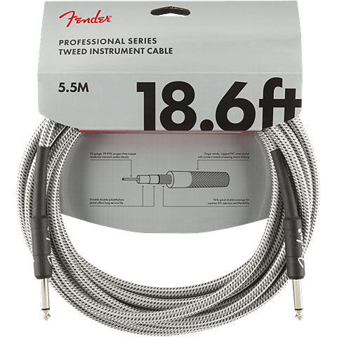 Cable instrumentos Fender Pro Series WhiteTweed 5,5 m