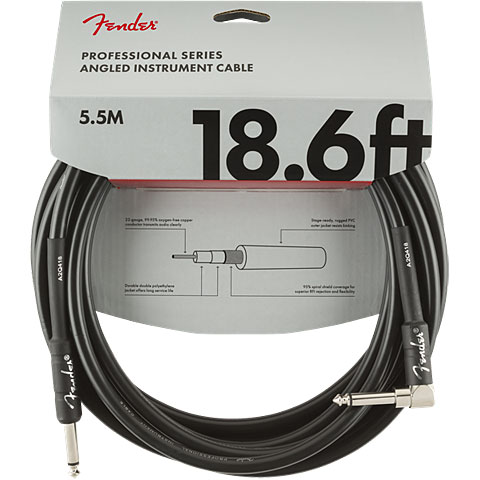 Cable instrumentos Fender Pro Series 5,5 m BLK Angled
