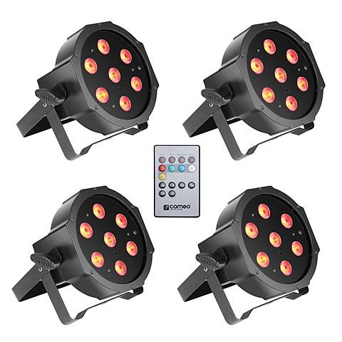 Lámpara LED Cameo Flat PAR Tri 3W IR WH Set