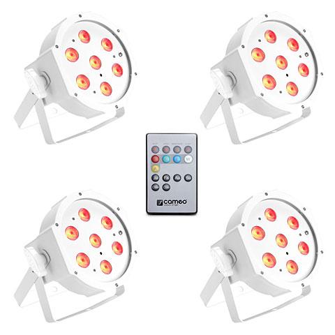 LED-Leuchte Cameo Flat PAR Tri 3W IR WH Set