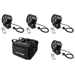 Eurolite Set 4x LED PS-4 HCL Spot + SB-4 Soft-Bag « LED-verlichting