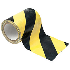 Eurolite Cable Tape yellow/black 150 mm x 15 m « Kleefband
