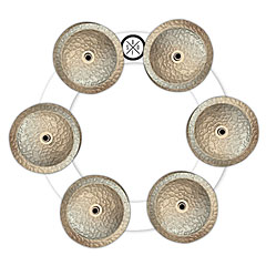 Big Fat Snare Drum Bling Ring White Copper « Bekken effect accessoires