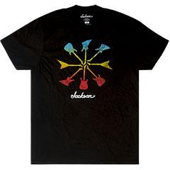 Jackson Guitar Shapes Black, S « Camiseta manga corta