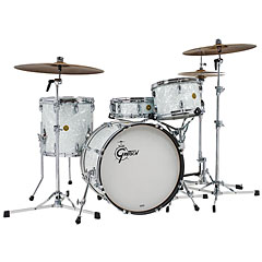 "Gretsch Drums USA Custom 20"" 60's White Marine Pearl Shellset « Batterie acoustique"