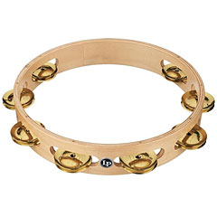 "Latin Percussion 10"" Single Row Tambourine Brass Jingles « Pandereta"