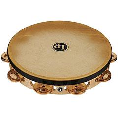 "Latin Percussion 10"" Single Row Bronze Jingles Headed Tambourine « Tamburello"