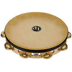 "Latin Percussion 10"" Single Row Brass Jingles Headed Tambourine « Pandereta"