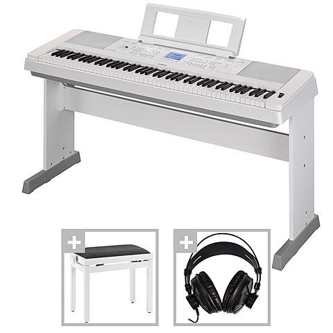 Piano numérique Yamaha DGX-660 WH Set