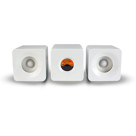 Enceintes actives Meters Cubed white